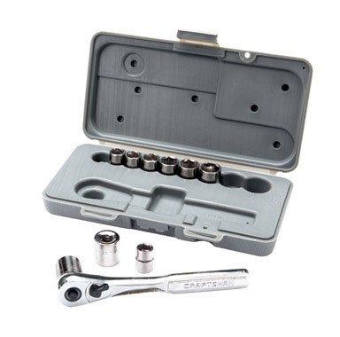 Craftsman 10 Pc 6 Pt 38 In Dr Metric Socket Wrench Set 34554