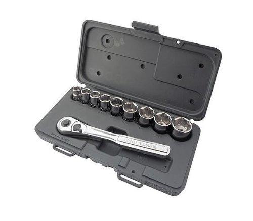 Craftsman 10 pc 6 pt 38 in Drive Standard Socket Wrench Set