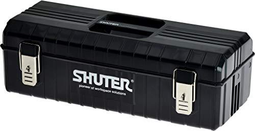Shuter Organizer Garage Organizer DIY Hardware Heavy Duty Toolbox Case Tray Tool Kit Chest Cabinet 6L TB-611 - Black