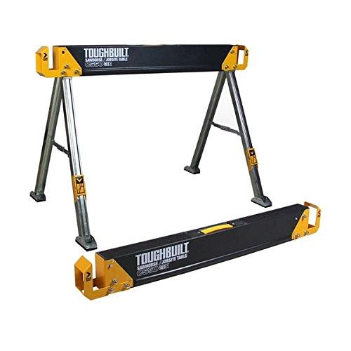 TOUGHBUILT C550 415-Inch Folding SawhorseJobsite Table