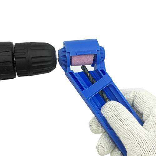 YuFankits Grinding Wheel Drill Bit Sharpener Aluminum Oxide Portable Drilling Grinder Tool - Blue
