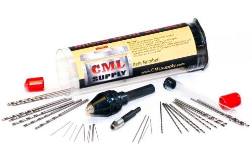 Mini Micro Drill Bit Set with Micro Drill Chuck 32 pcs