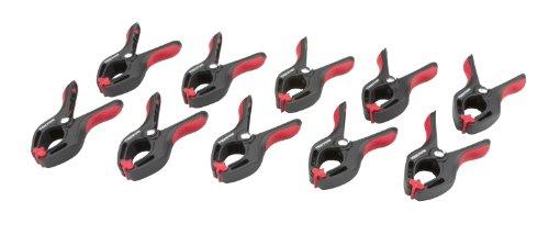 TEKTON 3901 34-Inch Premium Nylon Spring Clamps 34-Inch Jaw Opening 1-Inch Throat Depth 10-Piece