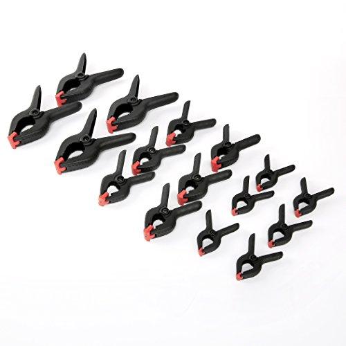 WORKPRO W001400A 16-Piece Nylon Spring Clamp Set -6pc 3-38 Clamps 6pc 4-12 Clamps 4pc 6-12 Clamps