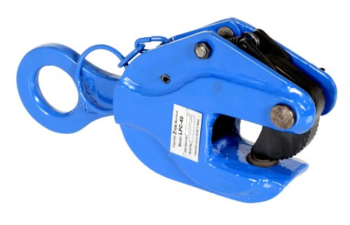 Vestil LPC-40 Positive Locking Plate Clamp 11875 Thick Serrated Grip 4000 lbs Working Load Limit 22 Bale Opening 295 Throat Depth