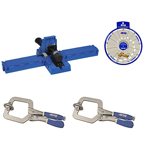 Kreg Jig K5 Pocket Hole System 2 KHC Premium Face Clamp Screw Selector Wheel