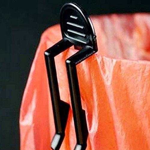KitMax TM Pack of 12 Kitchen Office Junk Clip Plastic Garbage Can Waste Bin Trash Bag Lock Clip Clamp Holder