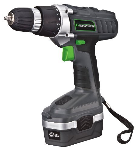 Genesis GCD18BK 18v Cordless DrillDriver Kit Grey