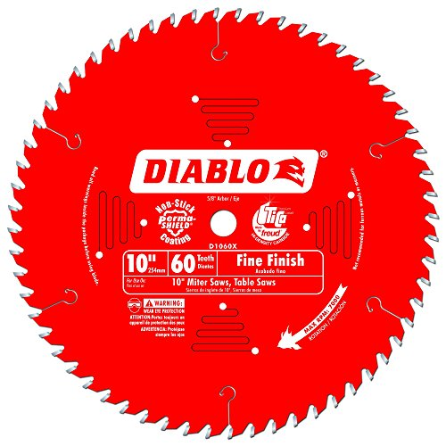 Diabo by Freud D1060X 10 x 60 Tooth Fine Finish Saw Blade
