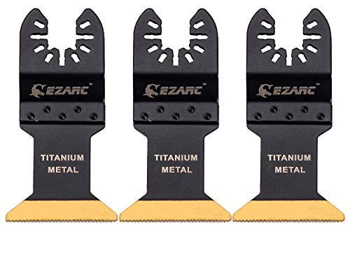 EZARC Titanium Oscillating Multitool Blade for Wood Metal and Hard Material 3-Pack