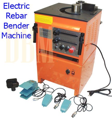 Electric Rebar Bender Bending Machine Table Bends 125MM Rebar Cutter Cuttting