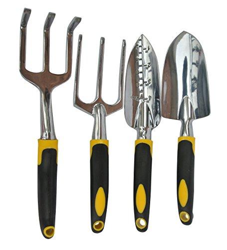 Geepro Trowel Cultivator and Transplanter Garden Tool Set 4-pc Set