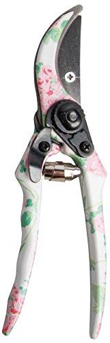 Esschert Design USA Rose Print Metal Garden Pruners