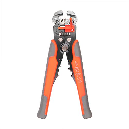 Wire Crimper Sunsbell Professional Automatic Electric Cable Wire Stripper Crimping Pliers Terminal Tool Red