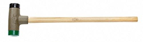 Lixie 120 Oz Dead Blow Sledge - 3 Dia wReplaceable Orange and Green Urethane Faces PN 300L-SM-35
