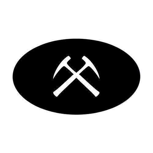 CafePress - Crossed Rock Hammers Oval Sticker - Oval Bumper Sticker Euro Oval Car Decal