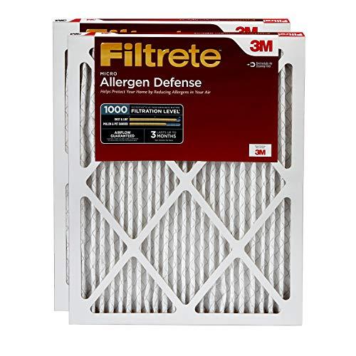 Filtrete 16x20x1 AC Furnace Air Filter MPR 1000 Micro Allergen Defense 2-Pack