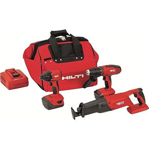 Hilti 3487025 18-Volt Lithium-Ion Cordless Hammer Drill DriverImpact DriverReciprocating Saw Combo Kit