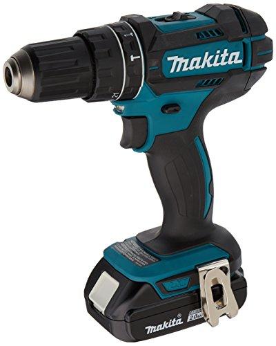 Makita XPH10R 18V Compact Lithium-Ion Cordless Hammer Driver-Drill Kit 2 Amp 12