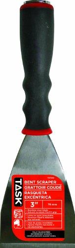 Task Tools T37450 3-Inch FlexFit Grip  Bent Scraper with Hammer Cap