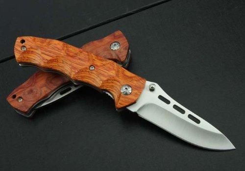 JCH KT35 Rosewood Wooden Handle Pocket Folding Knife Limited Collection