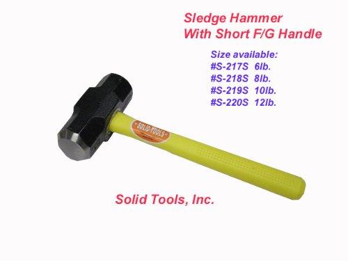 8 LB Sledge Hammer with Fiberglass Handle-Short Handle