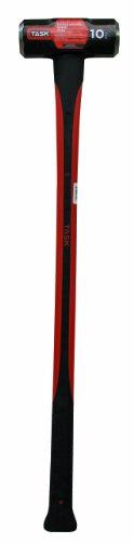 Task Tools T72319 10-Pound Sledge Hammer with  Fiberglass Handle