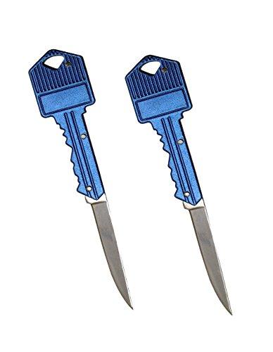 Nice Opple 2 Pack Keychain Folding Pocket Knife Keychain Knife  Blue