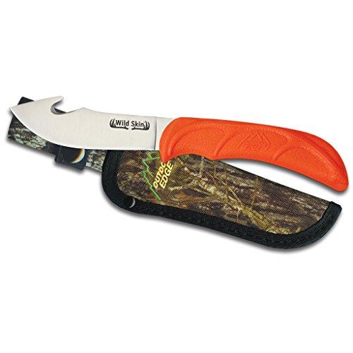 Outdoor Edge WildSkin Fixed Blade Gut Hook Skinning Knife for Hunting Mossy Oak Nylon Sheath WS-10C