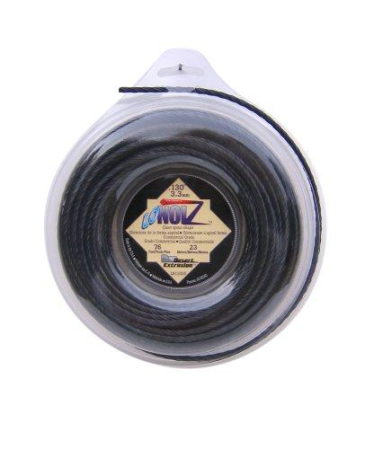 LoNoiz 130-Inch-by-76-Foot Spool Commercial Grade Spiral Twist Quiet 12-Pound Grass Trimmer Line Black LN130DS-12