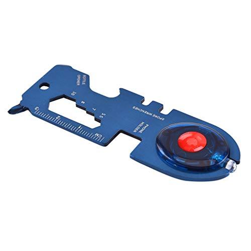 Iulove Multi-Function Tool Card Round Head Multi-Tool Card with Led Portable Tool Blue