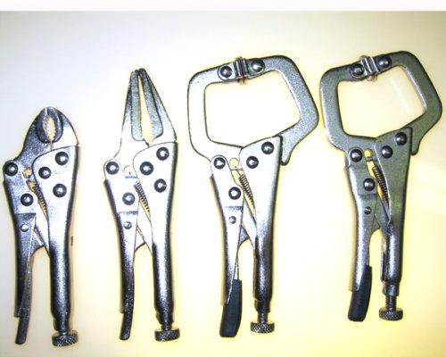 4pc VICE GRIP TYPE Mini Locking Pliers Set HIGH-CARBON STEEL