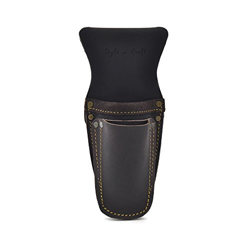 Style n Craft 70-009 3 Pocket PliersTool Holder in Heavy Top Grain Oiled Leather