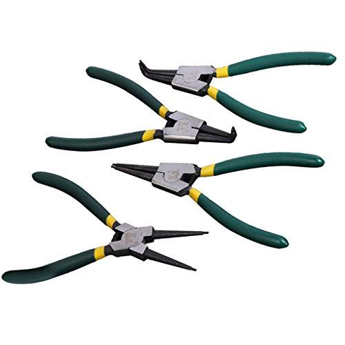 Snap Ring Pliers Kits 4pcs Duoyuanersty Heavy Duty 7-inch InternalExternal Circlip Pliers StraightBent Jaw