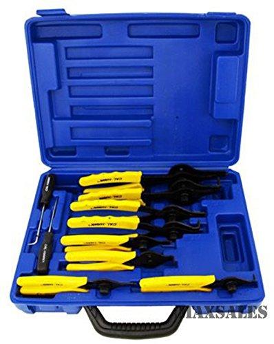 Generic NV_1008001424_YC-US2 liersLIE Mechanics Circlips Mecha 11pc SNAP Circl Auto Tool uto T RING PLIERS Set ntern Internal External Pliers 11pc SN