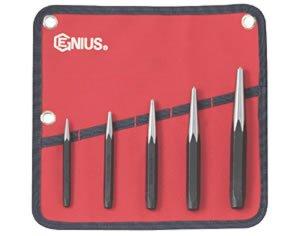 Genius Tool PC575C - 5 Piece Center Punch Set