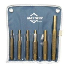 Mayhew Pro 67006 Brass Pin Punch Kit 6-Piece by Mayhew