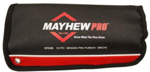 Mayhew Tools 67008 12 Piece Brass Pin Punch Set