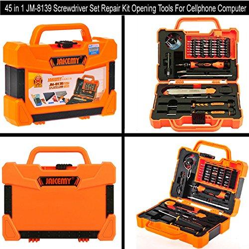 45 in 1 JM-8139 Screwdriver Set Repair Kit Opening Tools For Cellphones Computer Screwdriver Set