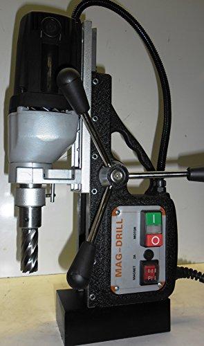 BLUEROCK Â Magnetic Drill Model BRM-35B Black w 2 Annular Cutter Set Mag Set