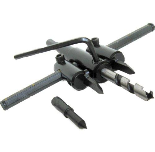 Generic Adjustable Wood Drywall Circle Hole Drill Cutter Bit Saw Use 300mm Circle Hole Saw Cutter Drill Bit Black