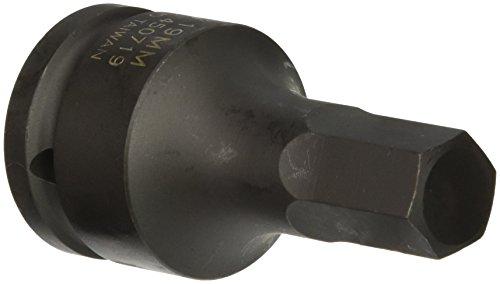 Sunex 450719 34-Inch Drive 19-mm Hex Driver Impact Socket