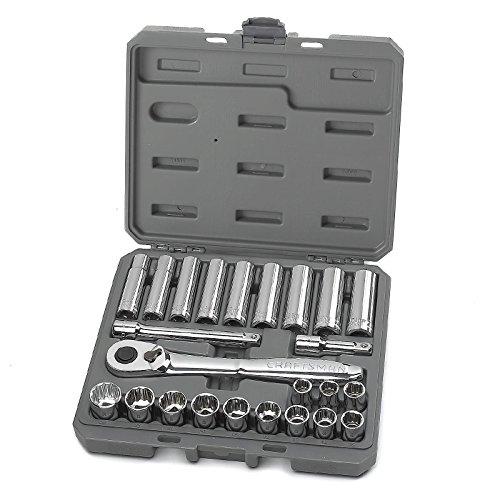Craftsman 24 pc Metric 12 in Drive Socket Wrench Set
