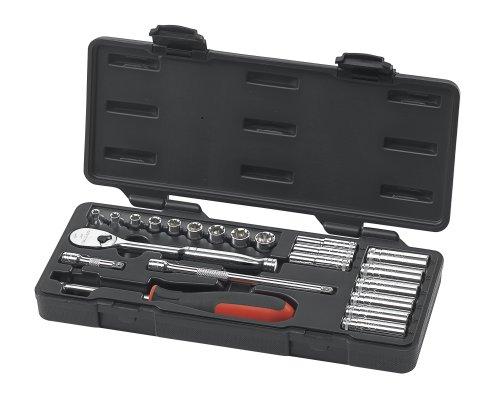 GearWrench 80327 22 Piece 14-Inch Drive Metric Socket Set StandardDeep