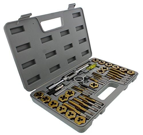 ABN Titanium Tap and Hexagon Die Set SAE - 40 Piece