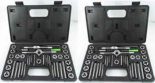 Tap Die Set w Cases Standard Screw Extractor Thread KitSAE Metric 80 Pcs
