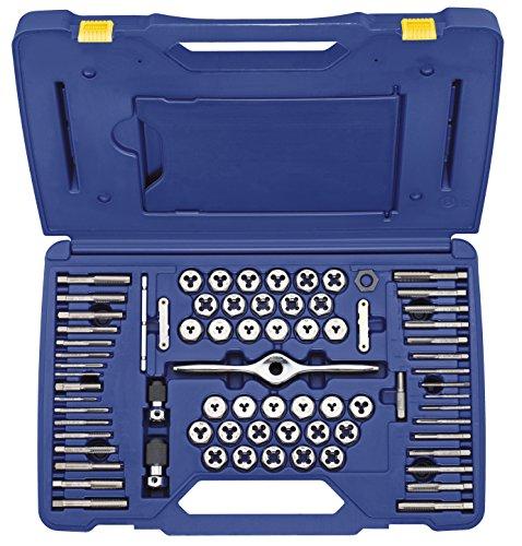 IRWIN HANSON MachineFractionalMetric Plug Tap and 1 Hex Die Set 75 Piece 1813816