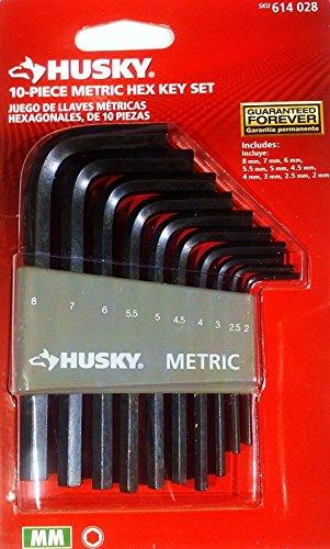 10-Piece Metric Hex Key Set