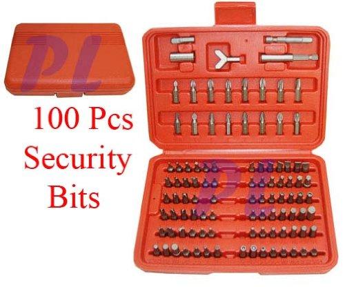 Security Tamper Proof Bit Set 100 pcs Torx Hex Spanner Security Bits Set