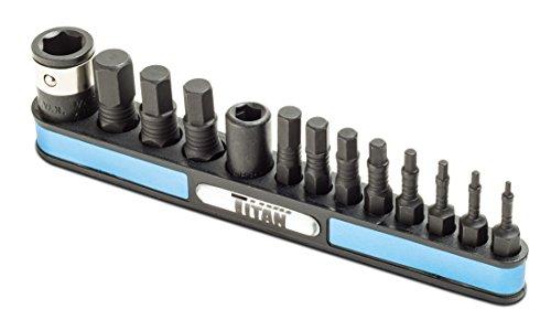 Titan Tools 16038 13-Piece Metric Impact Hex Bit Set